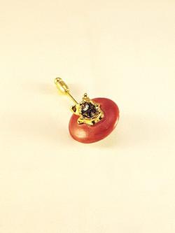 Gold Raspberry Brooch Pin