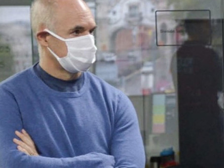 Tras volver de la costa, Rodríguez Larreta dio positivo en coronavirus y está en aislamiento