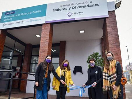 Mayra inauguró el nuevo Centro de Atención a Mujeres y Diversidades de Quilmes