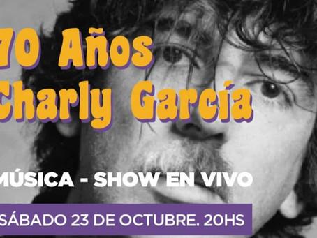 El Municipio de Quilmes invita al homenaje a Charly García