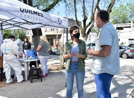 Mayra Mendoza supervisó un nuevo operativo DETeCTAr y vacunación del calendario nacional obligatorio
