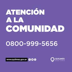 Atencion a la comunidad de Quilmes