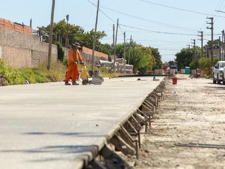 El Municipio de Quilmes avanza con las obras de pavimentación en el barrio Kolynos