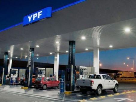 YPF aumentó los combustibles un 3,5% por el incremento del componente impositivo de la nafta