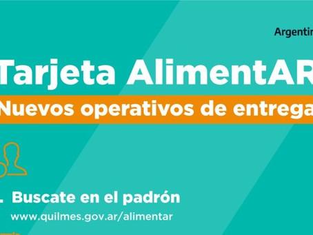Quilmes Oeste: continúa la entrega de la Tarjeta Alimentar en el polideportivo municipal