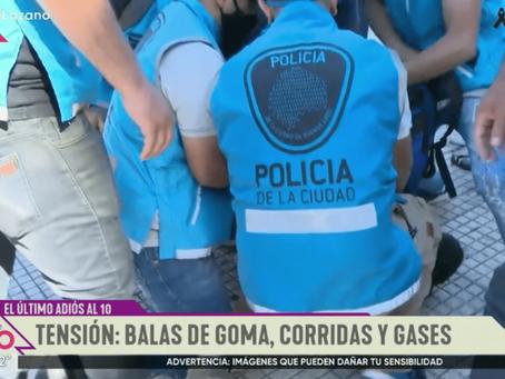 """Wado de Pedro: """"Le exigimos a Larreta y Santilli que frenen la represión de la Policía de la Ciudad"""""""