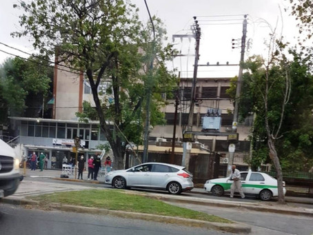 Una rama voló en pleno temporal en La Plata, atravesó un parabrisas e hirió a un hombre
