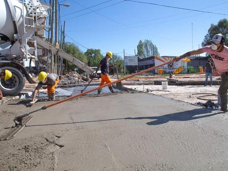 Quilmes: continúan las obras de bacheo y pavimentación en los barrios La Matera y la IAPI