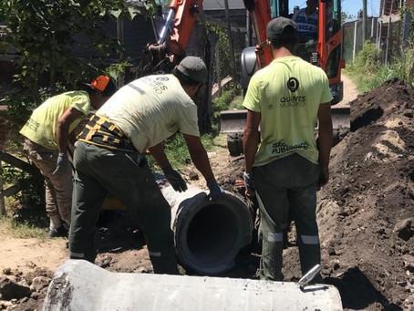 El municipio de Quilmes avanza con las tareas de saneamiento hídrico y erradicación de basurales