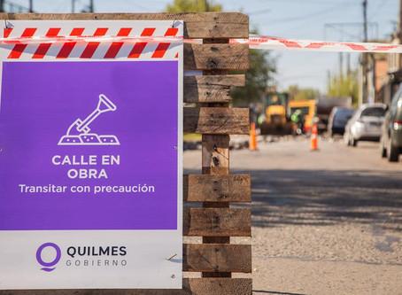 Quilmes: trabajos de higiene urbana, mantenimiento y arreglos de calles