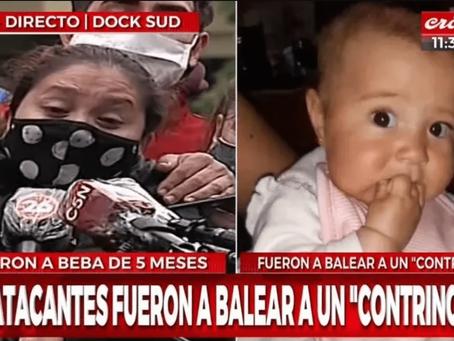 """""""Bajé a comprar el pan y no la tengo más conmigo"""", dijo la madre de la beba asesinada en Dock Sud"""