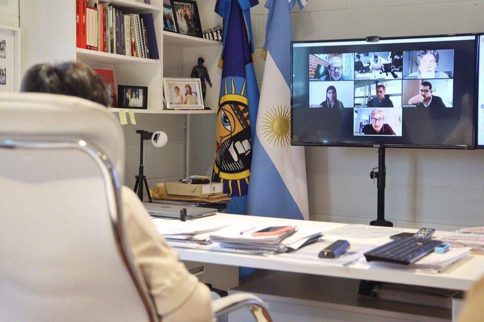 La intendenta realizó una videoconferencia con autoridades del Ministerio de Ambiente de la Nación y el Organismo Provincial de Desarrollo Sostenible.