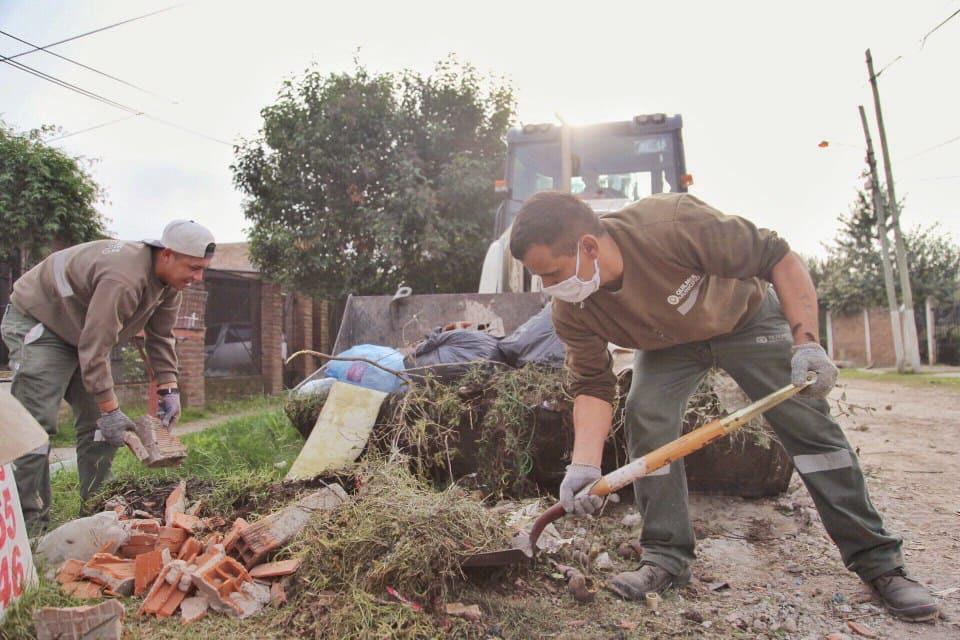 Grandes operativos de limpieza en los barrios El Sol y Los Eucaliptus