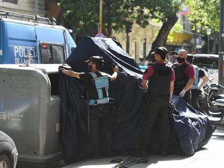 Horror en el microcentro porteño: hallaron un recién nacido muerto dentro de un contenedor de basura