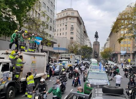 """Hugo Moyano destacó el """"respaldo de los trabajadores al Gobierno nacional"""""""