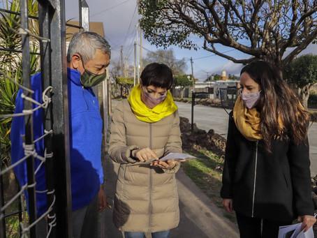 Mayra recorrió la obra de pavimentación de 35 cuadras en Villa La Florida