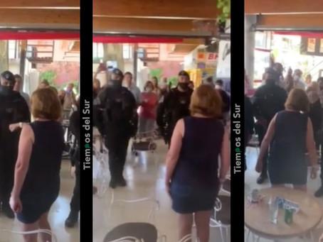 Escándalo: Bullrich sin tener cargo hizo cuadrar a policías, subió el video y después lo borró