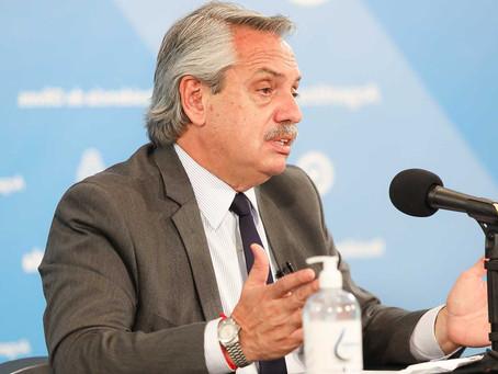 El presidente creará y encabezará un comando de vacunación para todo los argentinos