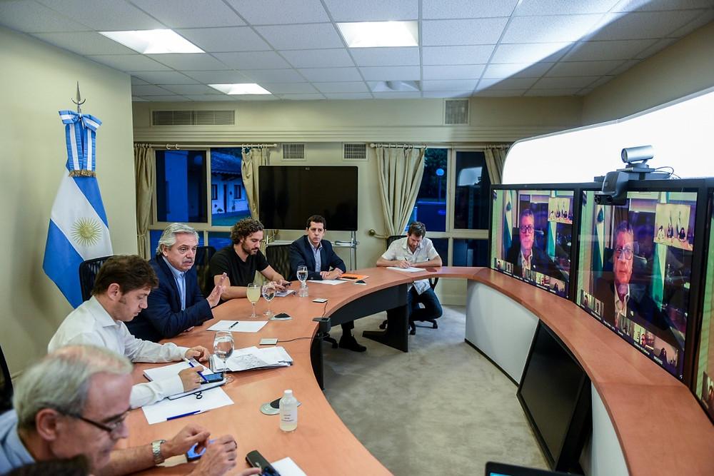El presidente Alberto Fernández evaluó situación en las provincias con gobernadores