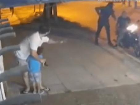 Bernal: nene de 3 años quedó en medio de asalto a manos de delincuentes disfrazados de policías