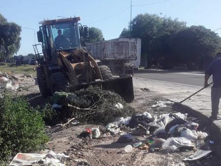 El municipio de Quilmes sigue con la erradicación de microbasurales, saneamiento y limpieza