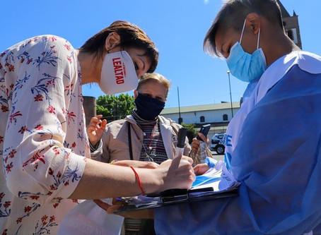 San Francisco Solano: Mayra encabezó un nuevo operativo de detección de casos de coronavirus