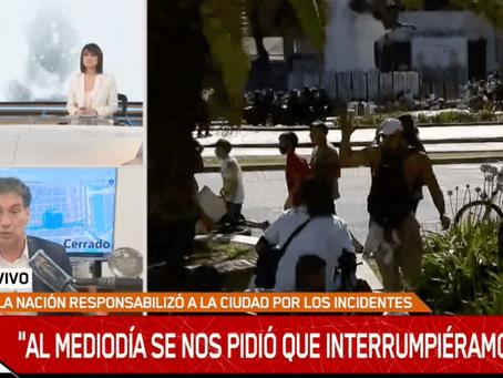 """Santilli justificó la represión: """"Se nos pidió interrumpir la fila y aparecieron unos violentos"""""""