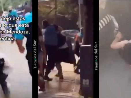 Tremenda batalla campal entre bikers, skaters y la policía terminó con 20 detenidos en Mendoza