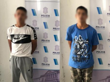 Dos hermanos fueron detenidos tras robar comercios de Don Bosco