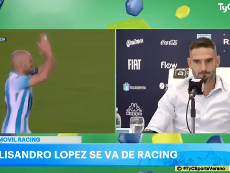 """""""Licha"""" López confirmó su salida de Racing por """"agotamiento físico y mental"""""""