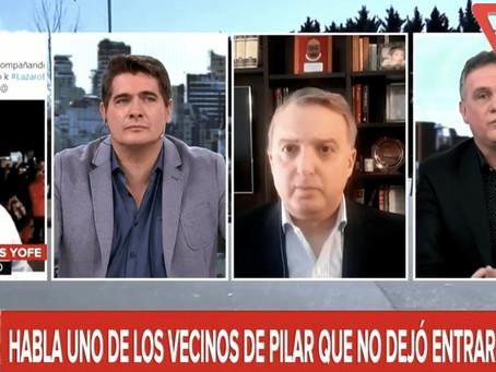 Mauro Federico y Andino dejaron en ridículo a militante que impidió el ingreso de Báez a su casa