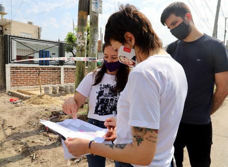 Mayra supervisó las obras del Centro Cívico Barrio IAPI y del corredor Paseo los Andes