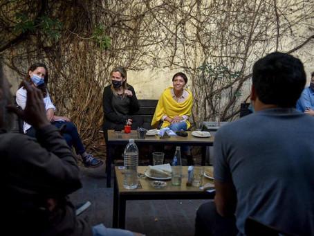 Mayra se reunió con integrantes de la cámara de gastronómicos del sector bares