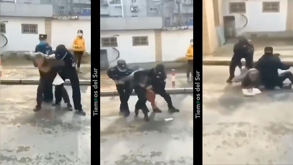 brutales detenciones en china por no usar barbijo