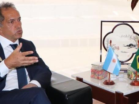 """Scioli analizó con la CNI de Brasil medidas para """"una balanza comercial más equilibrada"""""""