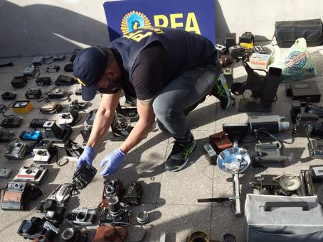 La policía recuperó los elementos históricos robados del Museo Fotográfico de Quilmes