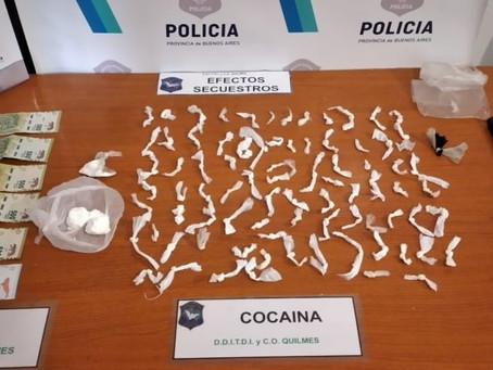 Quilmes: identificaron y detuvieron a delincuente que se dedicaba al narcomenudeo