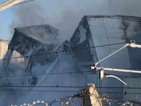 Se incendió un importante sector de la Cervecería Quilmes: videos e imágenes del desastre