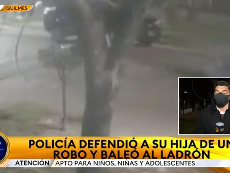 Así fue el violento asalto motochorro en Quilmes Oeste: el delincuente recibió 4 disparos