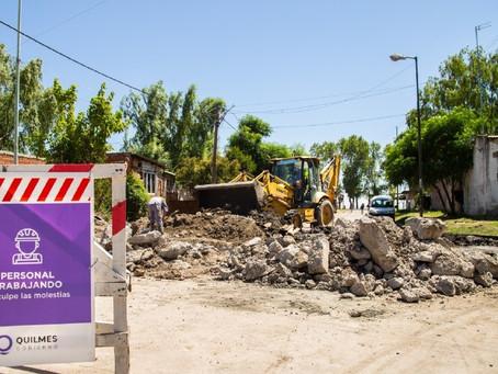 Ribera de Quilmes: Avanzan las obras del colector Iriarte y habrá cortes de calles