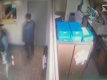 Tremendo video: violento robo a mano armada a un laboratorio de Lanús