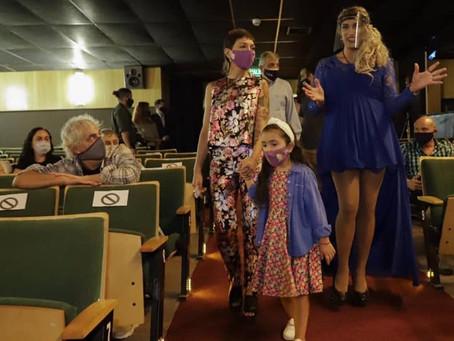 Mayra encabezó la reapertura del Teatro Municipal de Quilmes