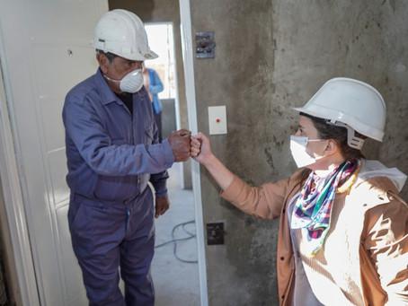 El Municipio de Quilmes continúa con obras de construcción de 24 viviendas en Los Eucaliptus