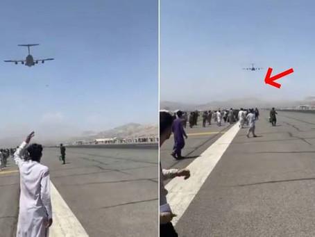 Impactantes imágenes del aeropuerto internacional afgano luego de que los talibanes tomaran Kabul