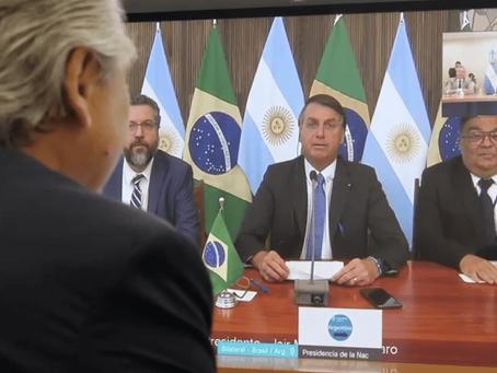 """Tras la gestión de Scioli, Fernández y Bolsonaro acordaron: """"Hay que dejar las diferencias de lado"""""""