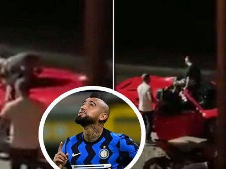 El polémico video de Arturo Vidal totalmente borracho en su Ferrari que se viralizó