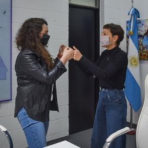 Mayra firmó convenios para la implementación del programa Accionar Infancia