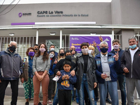 Mayra recorrió la obra de refacción integral del Centro de Atención Primaria de la Salud La Vera