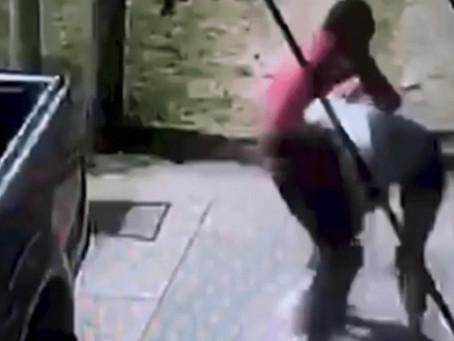 Solano: delincuente robó celular tras forcejear con una mujer y cuando escapaba casi lo atropellan