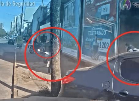 Video: impresionante persecución, choque y detención en Vicente López
